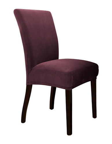 Sure Fit Jagger Stretch One-Piece Parson Chair Slipcover-BOYSENBERRY-One Size