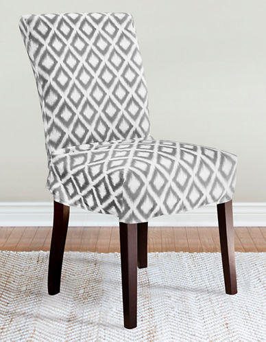 Sure Fit Ikat Slate 1-Piece Relaxed-Fit Dining Chair Slipcover-GREY-One Size