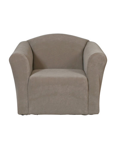 Sure Fit Surefit Dimples One-Piece Chair Slipcover-MINK-One Size