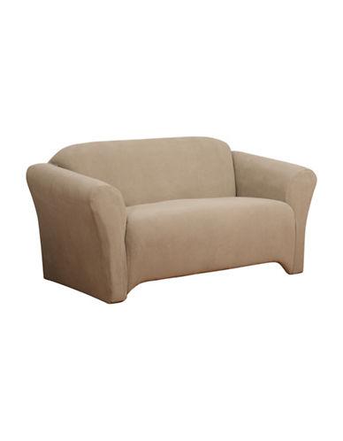 Sure Fit Surefit Dimples Stretch Sofa Slipcover-MINK-One Size
