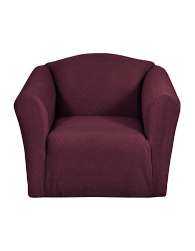 Sure Fit Surefit Dimples One-Piece Chair Slipcover-MERLOT-One Size