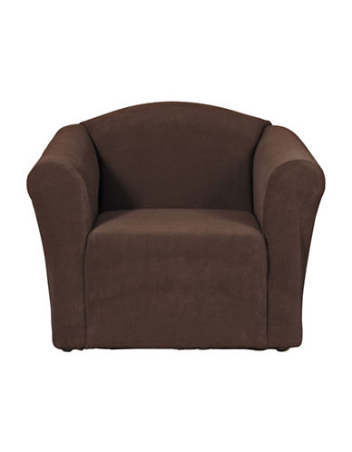 Sure Fit Surefit Dimples One-Piece Chair Slipcover-CHOCOLATE-One Size
