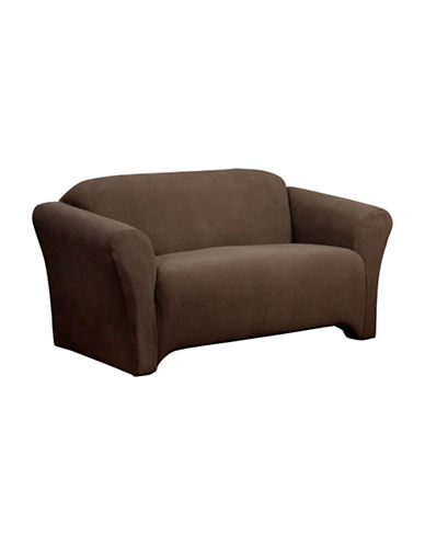 Sure Fit Surefit Dimples Loveseat Slipcover-CHOCOLATE-One Size