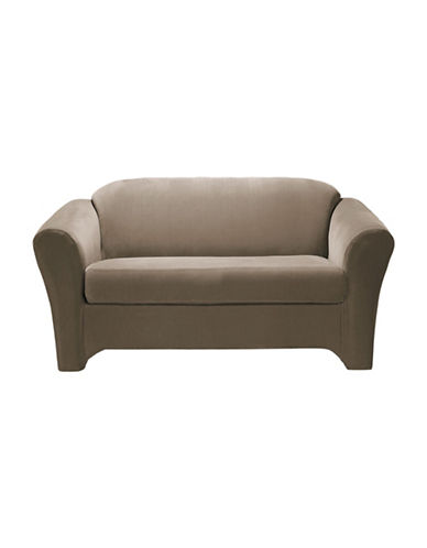 Sure Fit Eastwood Two-Piece  Stretch Loveseat Slipcover-MINK-One Size