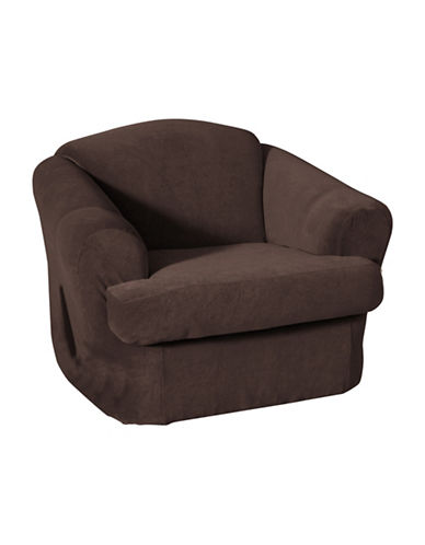 Sure Fit Surefit Eastwood Two-Piece Chair Slipcover-CHESTNUT-One Size
