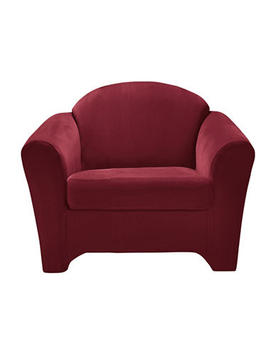 Sure Fit Surefit Eastwood Two-Piece Chair Slipcover-MERLOT-One Size