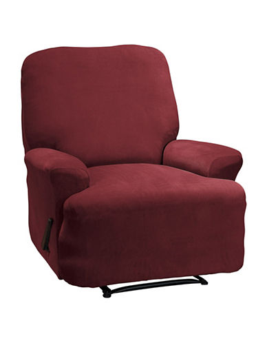 Sure Fit Eastwood Four-Piece Recliner Stretch Slipcover-MERLOT-One Size