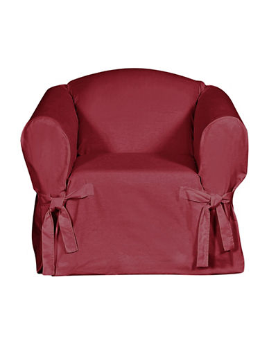 Sure Fit Surefit Duck Chair Slipcover-BURGUNDY-One Size