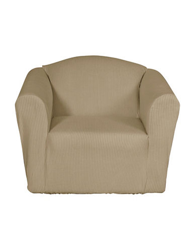 Sure Fit Montgomery One-Piece Stretch Chair Slipcover-MINK-One Size