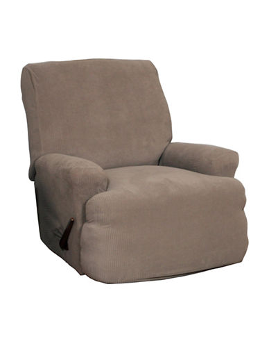 Sure Fit Montgomery Four-Piece Stretch Recliner Slipcover-MINK-One Size