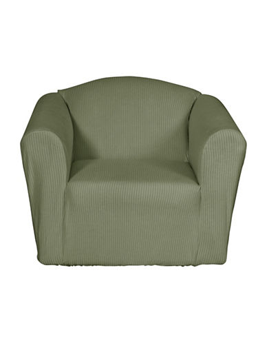 Sure Fit Montgomery One-Piece Stretch Chair Slipcover-SAGE-One Size