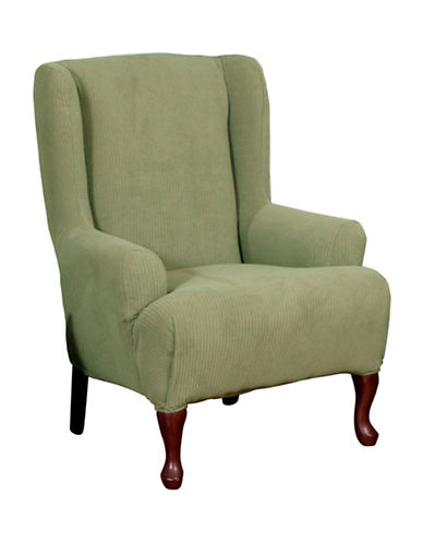 Sure Fit Montgomery One-Piece Stretch Wingchair Slipcover-SAGE-One Size
