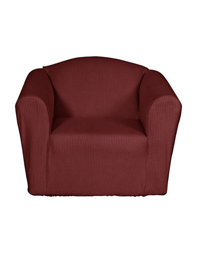 Sure Fit Montgomery One-Piece Stretch Chair Slipcover-MERLOT-One Size