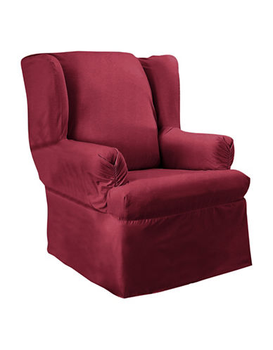 Sure Fit Surefit Duck Wing Chair Slipcover-BURGUNDY-One Size