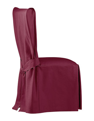 Sure Fit Surefit Duck Dining Chair Slipcover-BURGUNDY-One Size