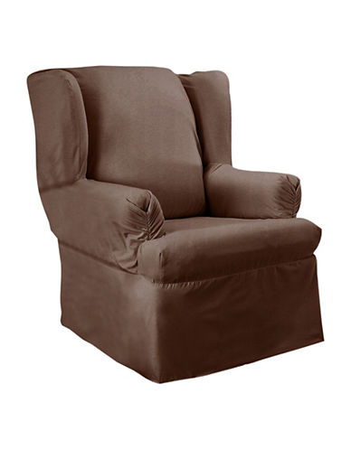 Sure Fit Surefit Duck Wing Chair Slipcover-CHESTNUT-One Size