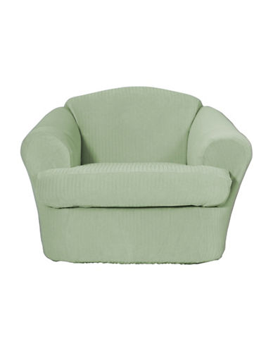 Sure Fit Spencer Two-Piece Stretch Chair Slipcover-SAGE-One Size