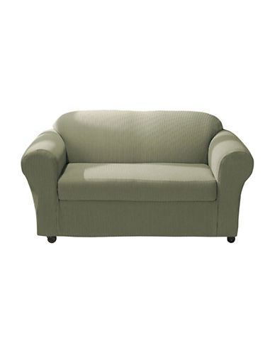 Sure Fit Spencer Two-Piece Stretch Loveseat Slipcover-SAGE-One Size