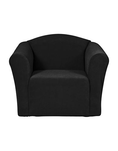 Sure Fit Surefit Dimples One-Piece Chair Slipcover-BLACK-One Size