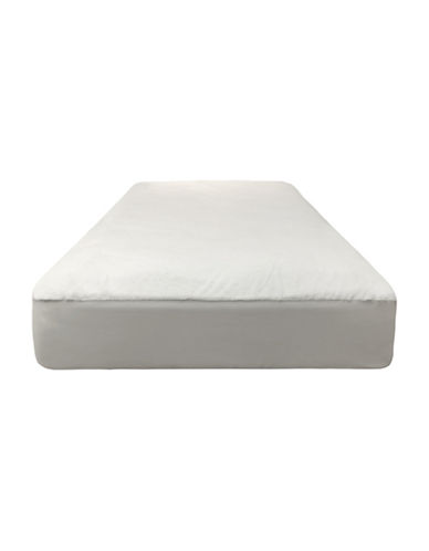 Dream Serene Cozy Velour Waterproof Fitted Mattress Protector-WHITE-Double