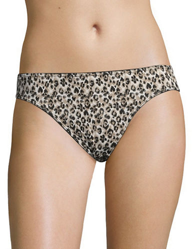 Elita Bamboo Rayon High Cut Briefs-LEOPARD-X-Large