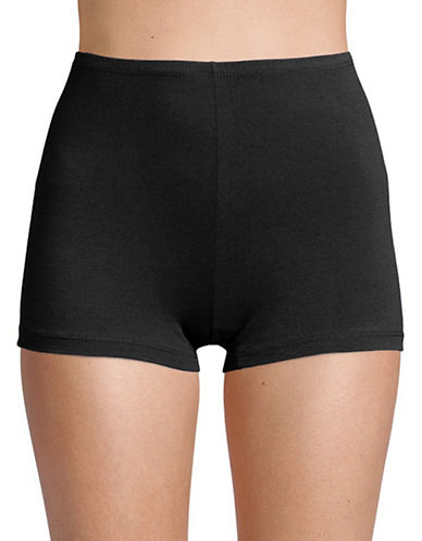 Elita Essentials Boyshorts-WHITE-Large