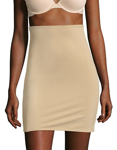 Elita Full Shaper V-Neck Half Slip-BEIGE-Medium