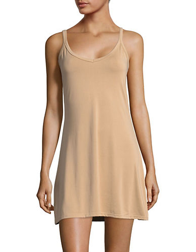 Elita Reversible Scoop Neck Full Slip-BEIGE-X-Large