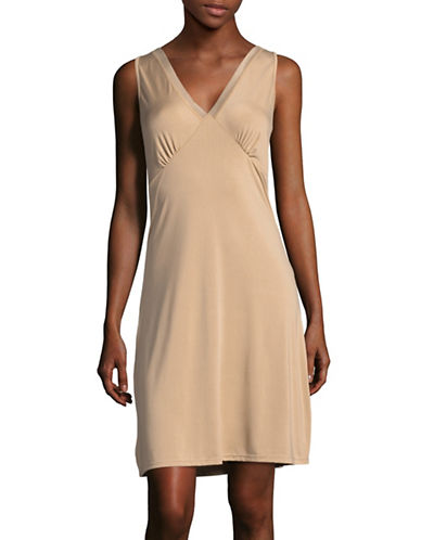 Elita Mesh Trim Full Slip-BEIGE-X-Large