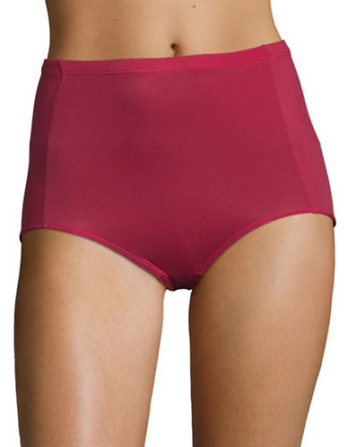 Elita Silk Magic Microfiber Briefs-CRIMSON-Medium