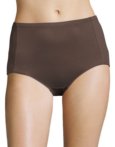 Elita Silk Magic Microfiber Briefs-BROWN-Large