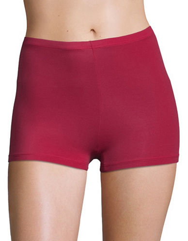 Elita Silk Magic Microfiber Boyshort 8862-CRIMSON-Large