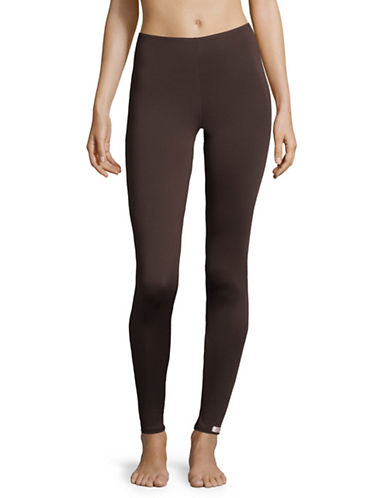 Elita Fleece-Lined Leggings-BROWN-Small