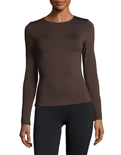 Elita Warmwear Long Sleeve Top-BROWN-Small