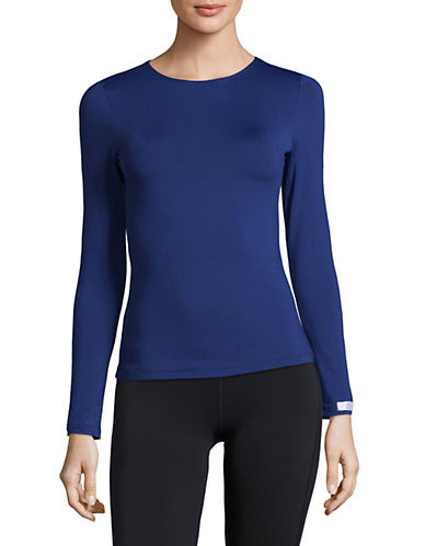 Elita Warmwear Long Sleeve Top-BLUE-X-Large