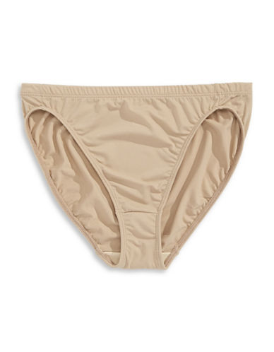 Elita Silk Magic Hi-Cut Briefs-BEIGE-Large