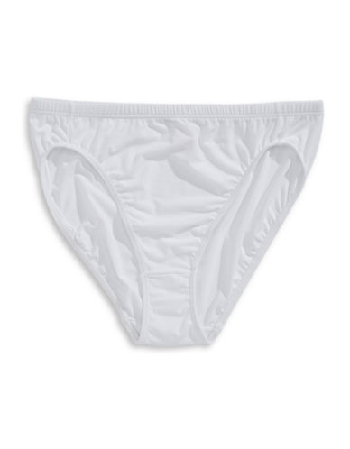Elita Silk Magic Hi-Cut Briefs-WHITE-Large