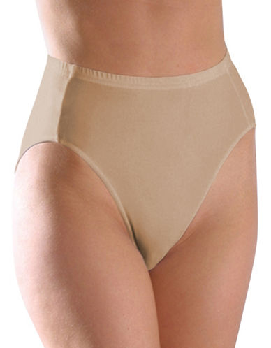 Elita ELITA Silk Magic Microfiber Classic Cut High Cut Brief 8825-BEIGE-Large