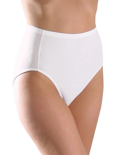 Elita ELITA Silk Magic Micro Classic Cut Full High Cut Brief 8826-WHITE-Medium