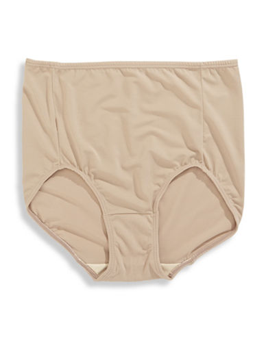 Elita Silk Magic Microfiber Briefs-BEIGE-X-Large