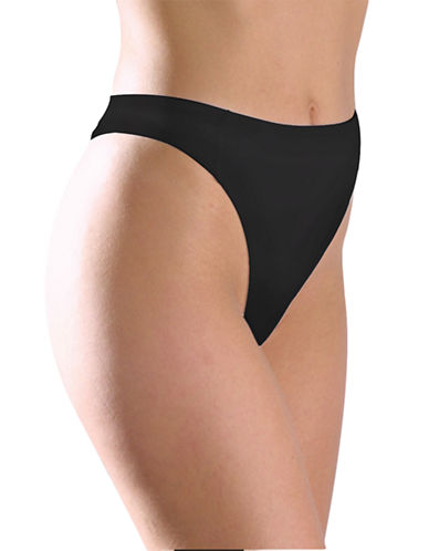 Elita Waist-High Thong-BLACK-Large
