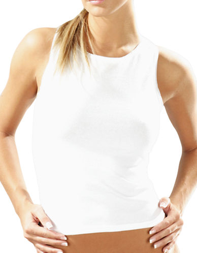 Elita Basically Cotton Built Up Camisole Style 4353-WHITE-Large