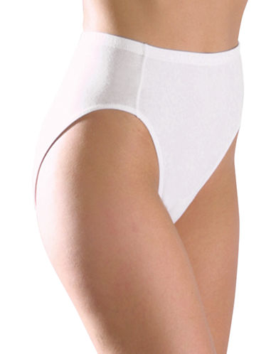 Elita ELITA Essentials Stretch Cotton Full Fit High Cut Brief 4060-WHITE-Large