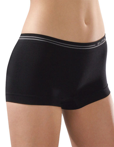 Elita Seamless Boyleg Briefs-BLACK-X-Large