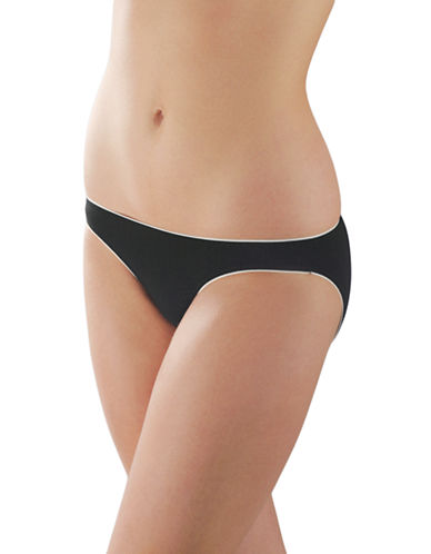 Elita Elements Rayon from Bamboo Low Rise Bikini Style 3641-BLACK-Large
