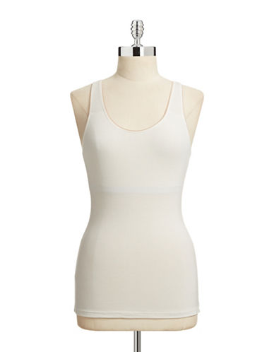 Elita Bamboo Built-In Bra Tank-NATURAL-Large