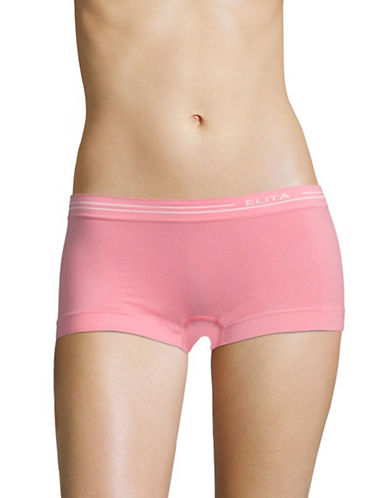 Elita Seamless Boyleg Briefs-SOFT PINK-Small
