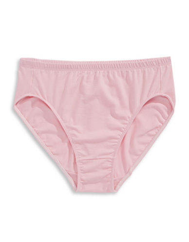 Elita Essentials Cotton Classic Cut High Cut Brief Style 4025-PINK-Medium