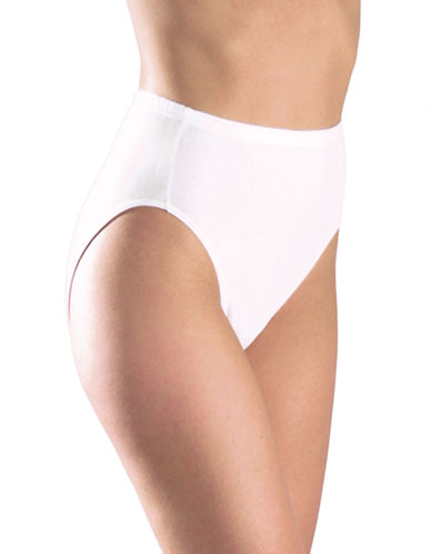 Elita Essentials Cotton Classic Cut High Cut Brief Style 4025-WHITE-X-Large