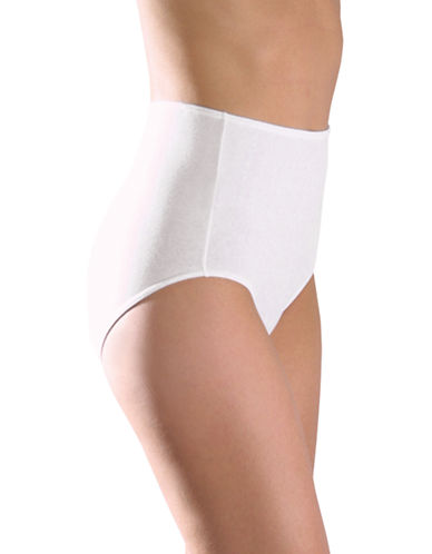 Elita Classic-Cut Full Briefs-WHITE-Medium